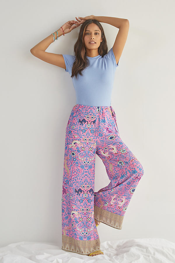 Plenty by Tracy Reese Paisley Wide-Leg Trousers