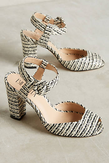 Billy Ella Metallic Boucle Heels