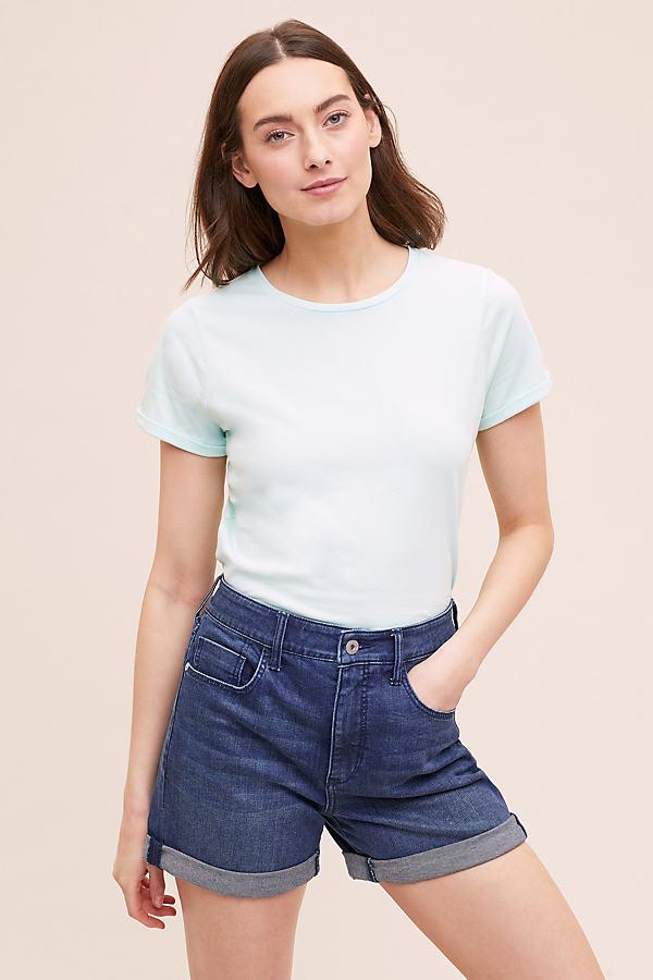 Jennie High-Waisted Denim Shorts - Blue, Size 29