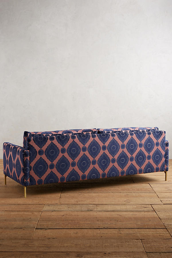 Slide View: 2: Medallion-Woven Angelina Sofa