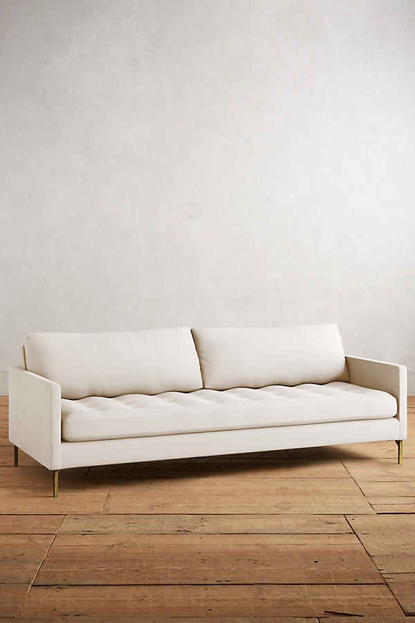Slide View: 1: Belgian Linen Angelina Sofa