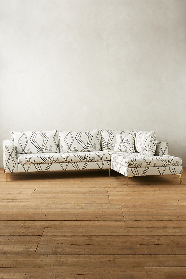 Berber-Woven Edlyn Right Sectional - Black & White