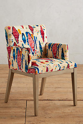 Slide View: 1: Medina Abstract-Printed Emrys Armchair