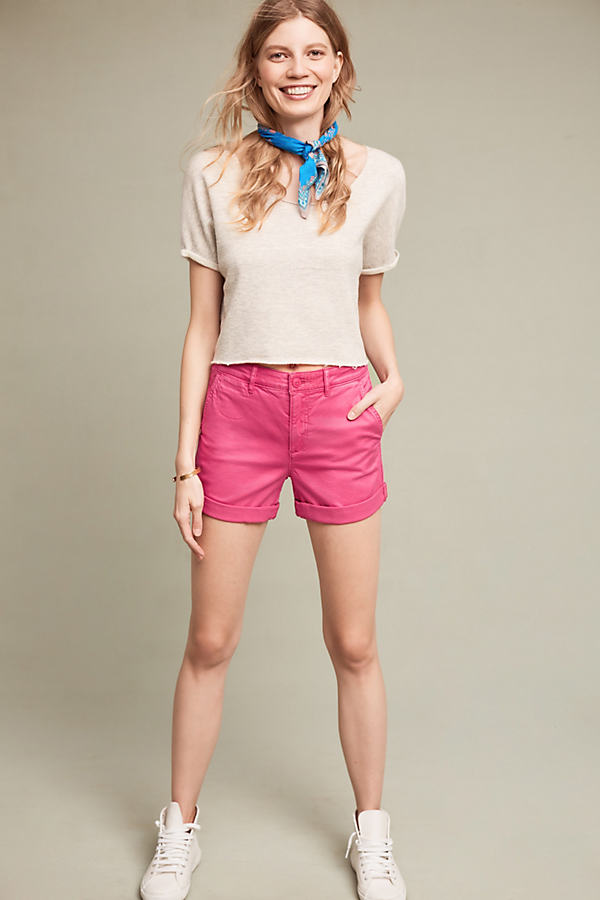 Relaxed Chino Shorts - Raspberry, Size 29