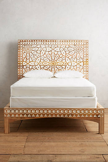 Hand Carved Bed: Anthropologie
