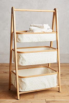 Slide View: 1: Three-Tier Bamboo Storage Shelf