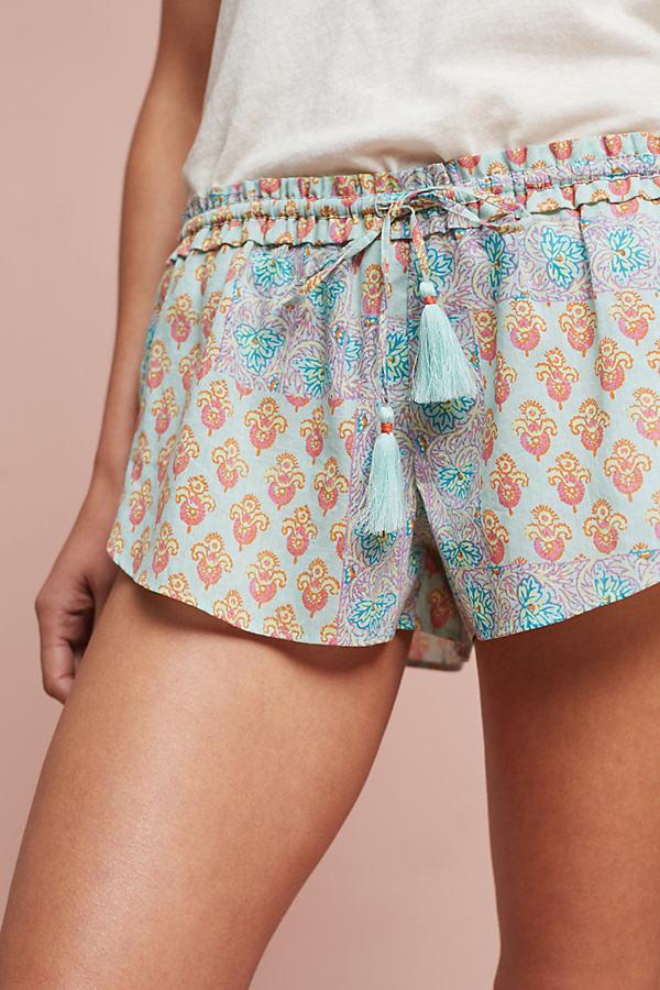 Sweetest Dreams Sleep Shorts - Mint, Size Xl