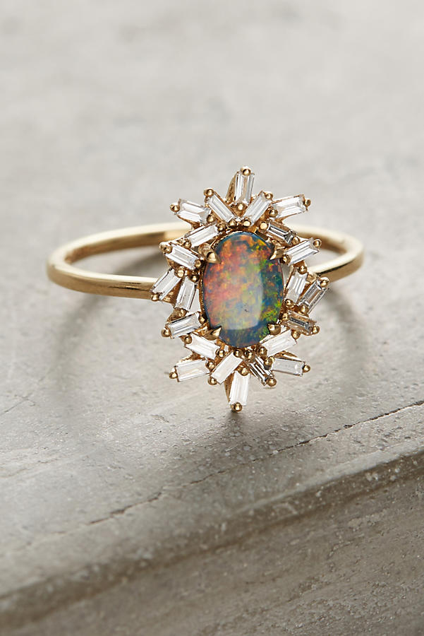 One-Of-A-Kind Opal Diamond Ring