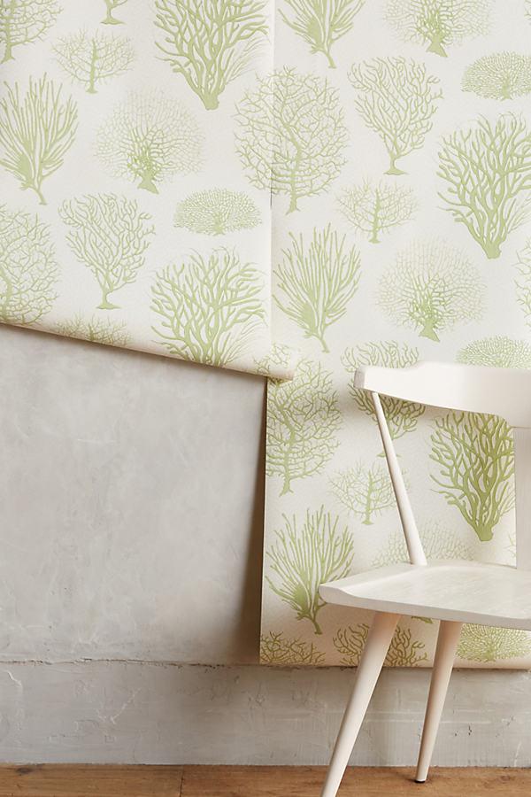 Sea Fern Wallpaper - Green