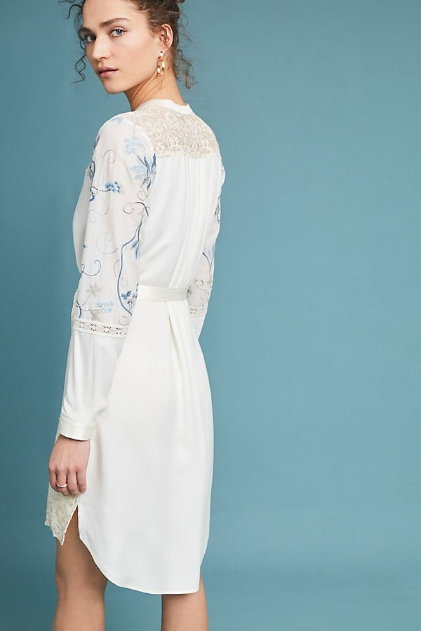 Amarante Embroidered Shirtdress Anthropologie