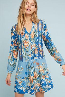 Tiny   Gaina Printed Dress  -    BLUE MOTIF