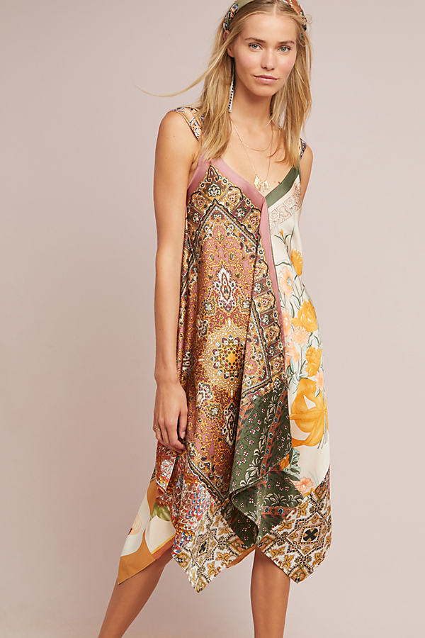 Sebou Scarf-Printed Dress - Assorted, Size Xs Petite