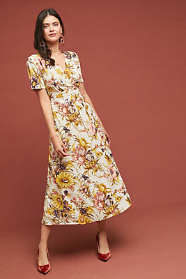 Slide View: 1: Sunflower Wrap Dress