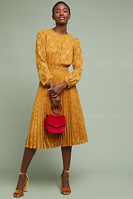 Slide View: 1: Sunglow Pleated Dress