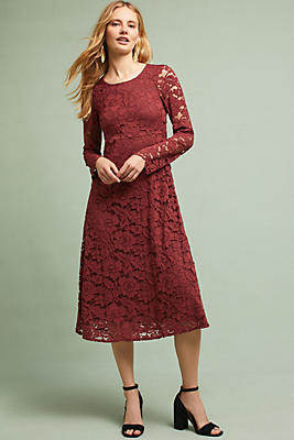 Slide View: 1: Garnet Lace Dress