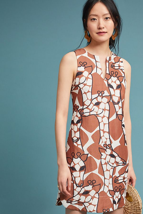 Slide View: 1: Corey Lynn Calter Giraffe Shift Dress