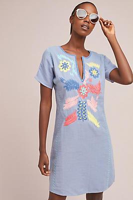 Slide View: 1: Corey Lynn Calter Catori Embroidered Shift Dress