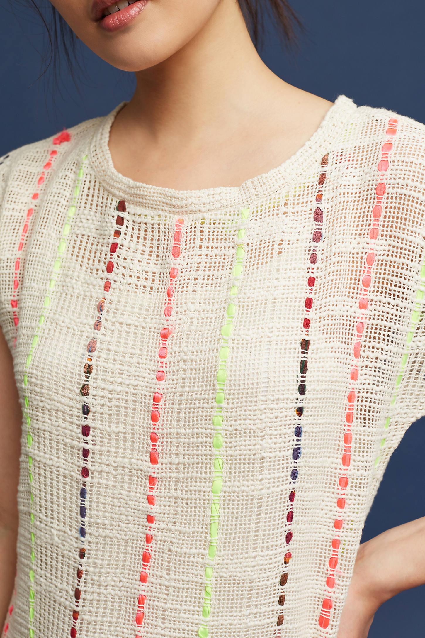 Threaded Sweater Dress