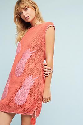 Slide View: 1: Crocheted Pineapple Dress