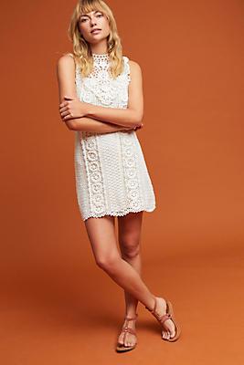 Slide View: 1: Crochet Mini Dress