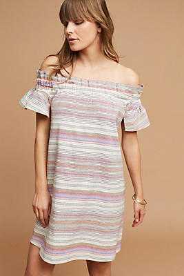 Slide View: 1: Audrie Textured Off-The-Shoulder Dress