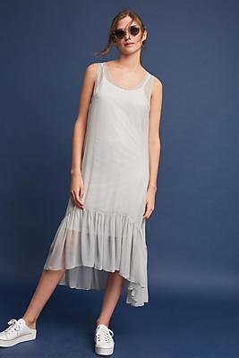 Slide View: 1: Lorelai Silk Flounced Dress