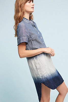 Slide View: 1: Tech-Dyed Tunic Dress