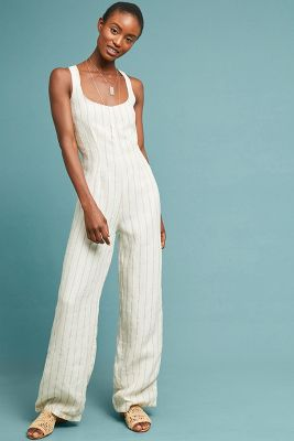 Striped Linen Jumpsuit by Winston White