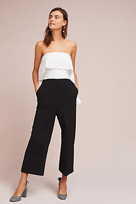 Slide View: 1: Strapless Colorblocked Jumpsuit