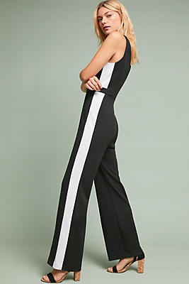 Slide View: 1: Striped Wide-Leg Jumpsuit