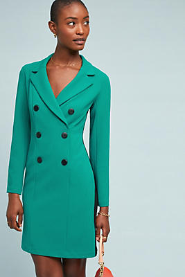 Slide View: 1: Double-Breasted Blazer Dress