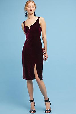 Slide View: 1: Sasha Velvet Midi Dress
