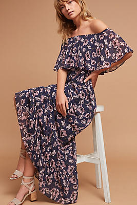 Slide View: 1: Willow Off-The-Shoulder Maxi Dress