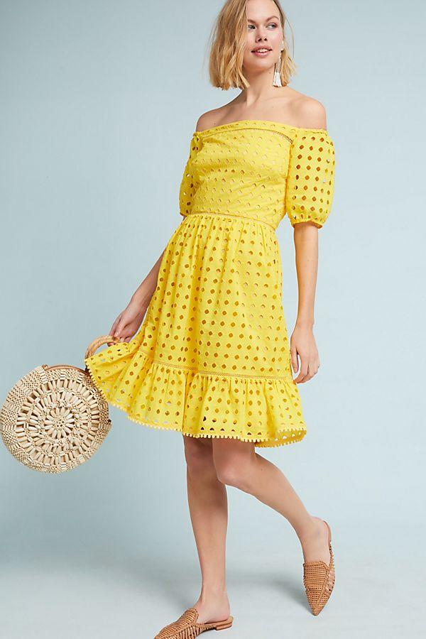 Donna Morgan Shelby Eyelet Pee Dress