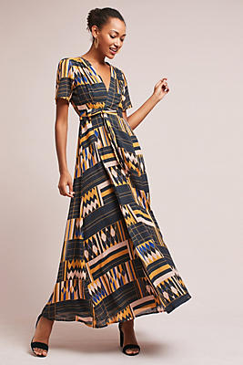 Slide View: 1: Macie Wrap Maxi Dress