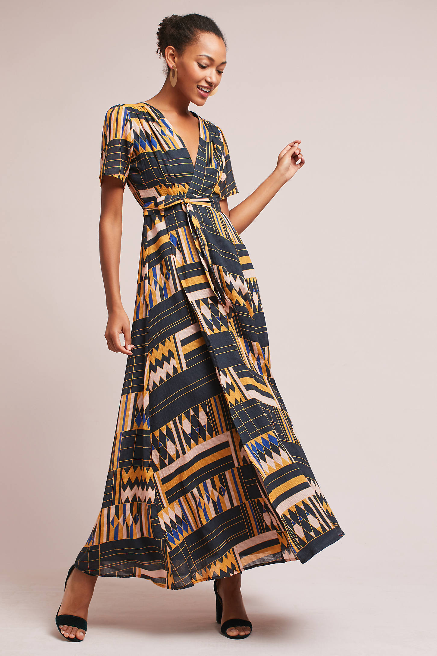 Macie Wrap Maxi Dress
