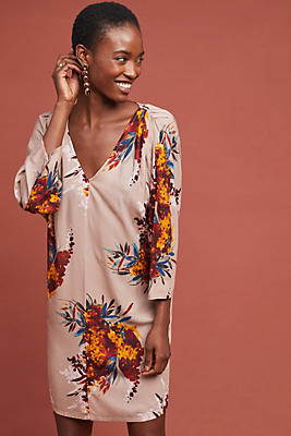 Slide View: 1: Harvest Floral Tunic Dress