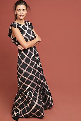 Slide View: 1: Seville Ruffled Maxi Dress
