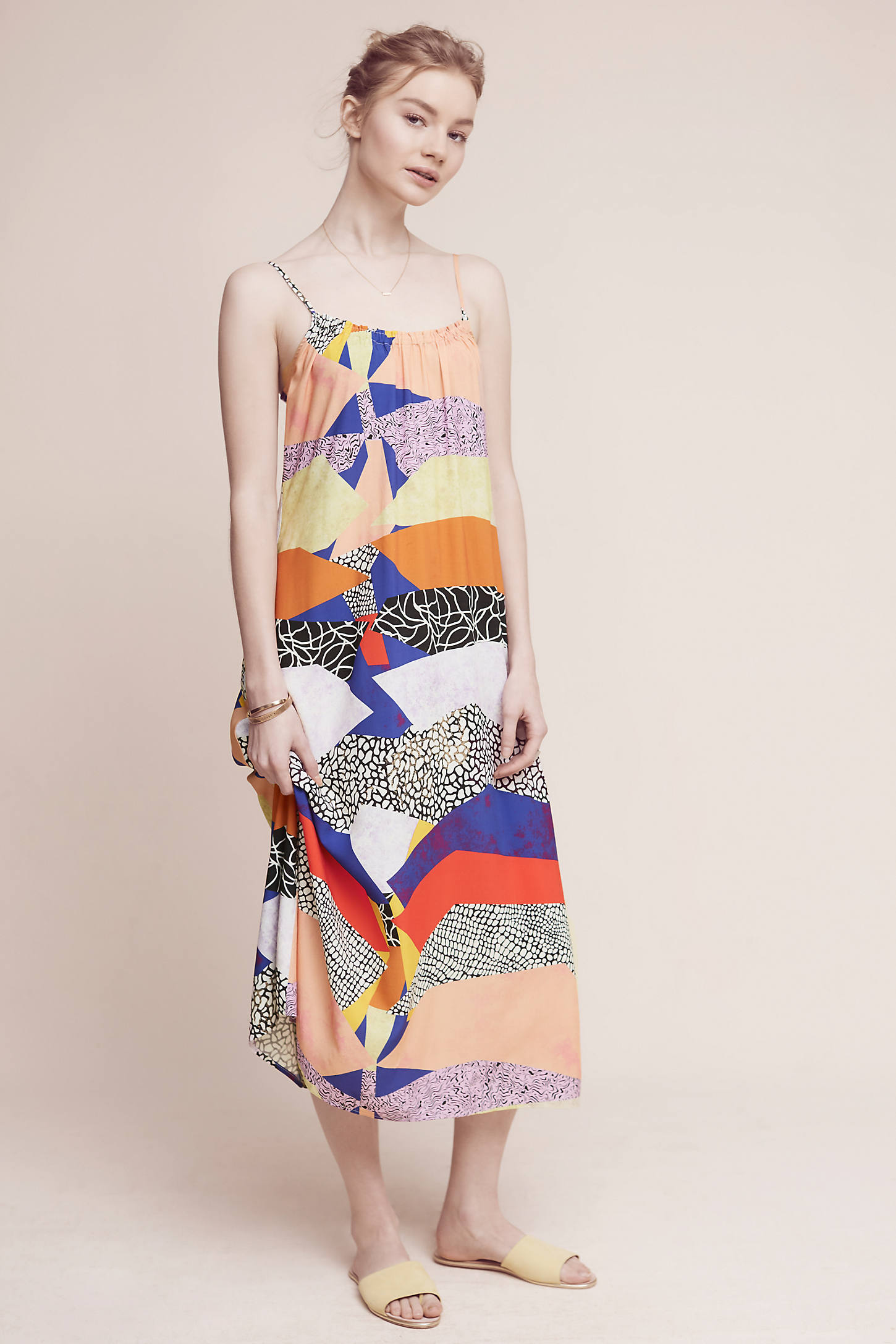 Shaina Printed Slip Dress