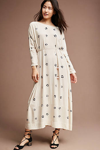 Monica Printed Dress, Ivory
