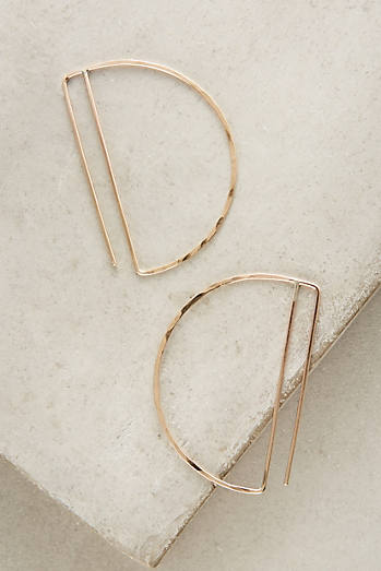 Gold Deco Hoop Earrings