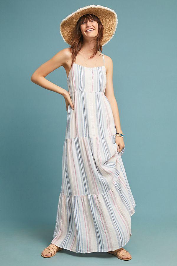 Slide View: 4: Splendid Brunch Striped Maxi Dress
