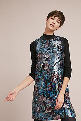 Slide View: 1: Anna Sui Anita Sequined Swing Dress