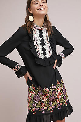 Slide View: 1: Anna Sui Daisy Embroidered Blouse