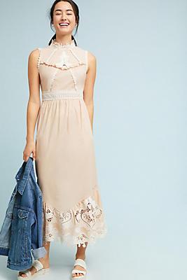 Slide View: 1: Anna Sui Nissa Lace Midi Dress