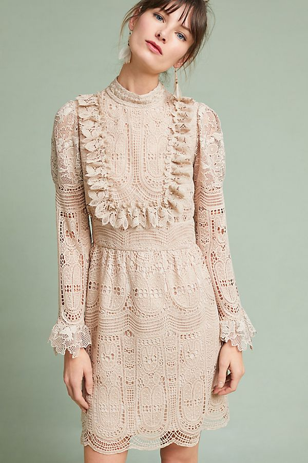 Anna Sui Scalloped Lace Dress