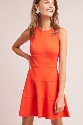 Three Dots   Bayside Petite Dress  -    RED