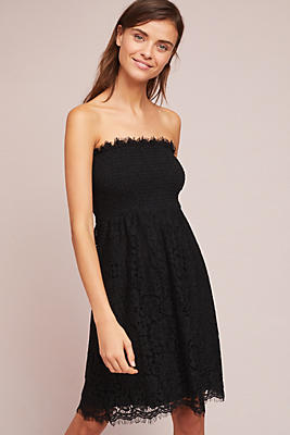 Slide View: 2: Strapless Smocked Lace Dress
