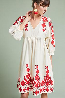 Jora Embroidered Peasant Dress Anthropologie