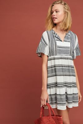 Janaye Embroidered Tunic Dress by Velvet By Graham & Spencer